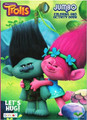 Trolls Jumbo 96 pg. Coloring And Activity Book - Let's Hug!