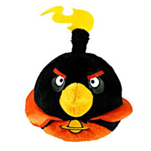 "Angry Birds Space Rio 5"" Plush Stuffed Toy No Music - Da Bomb Black Bird"