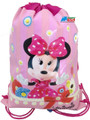 Drawstring Bag - Minnie Mouse (Flowers) Pink Cloth String Bag