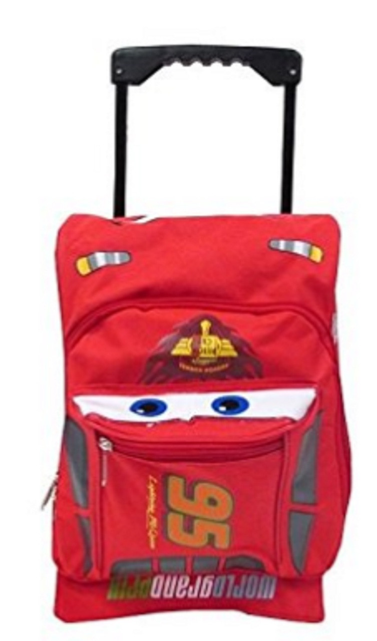 87ee3c0f9ba1 Rolling Backpack - Cars - Small 12 Inch - McQueen