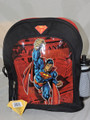Superman Small Toddler Cloth Backpack Black/Red w/ Water Bottle