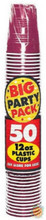 Big Party Pack 12 oz Plastic Cups - Berry