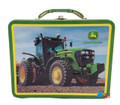John Deere Small Square Tin School Lunchbox - Green