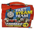 "Thomas the Train Dome Carry All Tin Stationery Lunch Box - ""Fast Steam Team"""