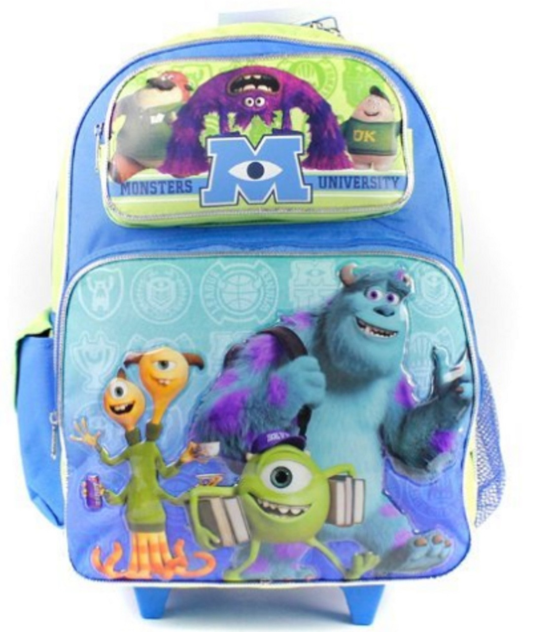 aeaad9c20e7 Monsters University Large 16 Inch Rolling Backpack - Mike Sully 3D