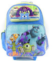 Monsters University Large 16 Inch Rolling Backpack - Mike Sully 3D