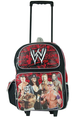 "WWE John Cena, Rey Mysterio  Large 16"" Rolling Backpack Bag Red"