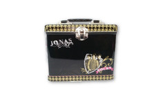 Jonas Brothers Square Carry All Tin Stationery Lunch Box Lunchbox - Black