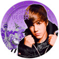 Justin Bieber 9 Inch Large Round Lunch Dinner Plates