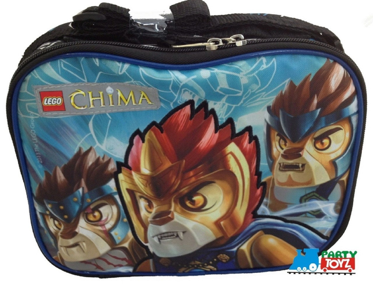 LEGO Chima Double Zipper Cloth Insulated Fabric Lunch Box Container - Black