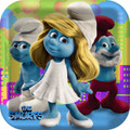 The Smurfs Large 9 Inch Square Lunch Dinner Plates