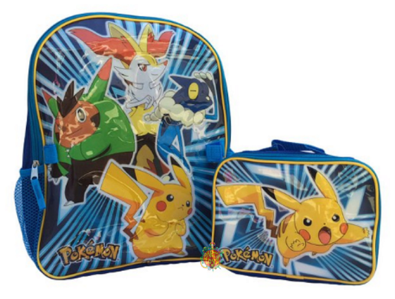 Pokemon 16 Inch Large Backpack With Lunch Box - Pikachu