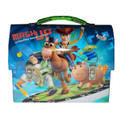"Toy Story Woody Buzz Jessie Dome Carry-All Workmans Tin - ""Mash Up"""