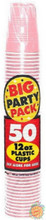 Big Party Pack 12 oz Plastic Cups - New Pink