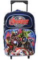 "Avengers Age of Ultron Large 16"" Cloth Rolling Backpack - Dark Blue"