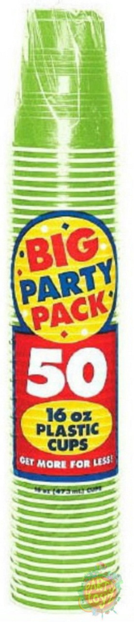 Big Party Pack 16 oz Plastic Cups - Kiwi