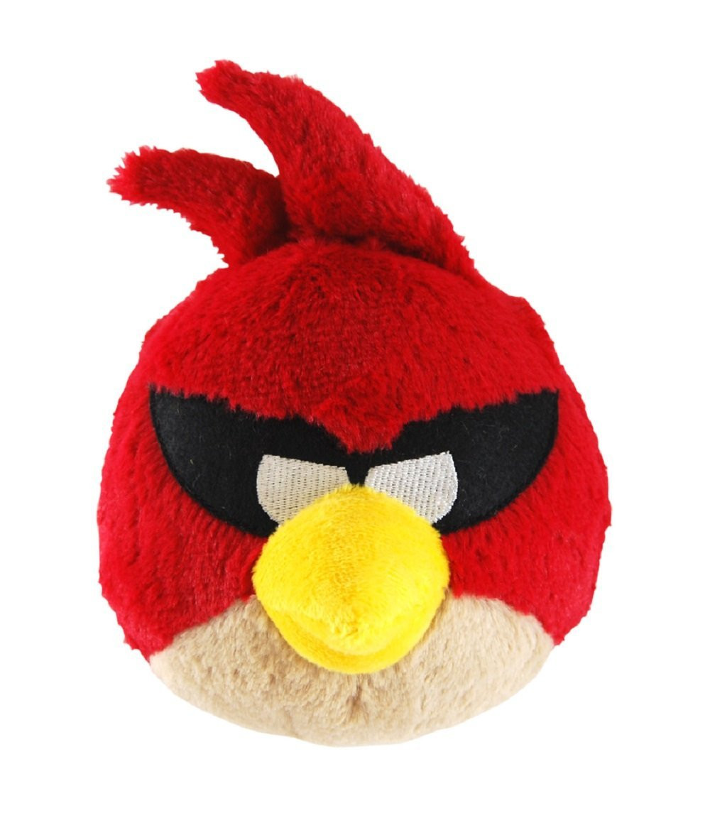 """Angry Birds Space Rio 5"""" Plush Stuffed Toy No Music - Red Bird"""
