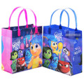 Inside Out Pack of 12 Party Favor Reusable Goodie Bags 8in
