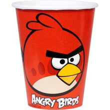 Angry Birds 9Oz Beverage. Cups Party Birthday - Red