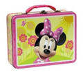 Minnie Mouse Square Tin Stationery or Small Lunch Box - Pink