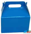 12X Solid Color Turquoise Blue Paper Treat Boxes