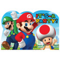 Super Mario Pack of 8 Invitations with Envelopes