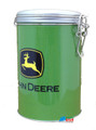 John Deere Round Tin Cookie Jar - Green