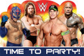 WWE Pack of 8 Postcard Invitations