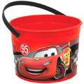 Cars Plastic Favor Bucket Container ( 1pc )