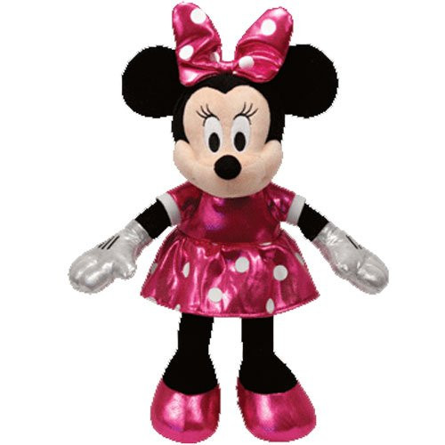 Sparkle Pink Dressed Minnie Mouse 13 Large Ty Plush Partytoyz