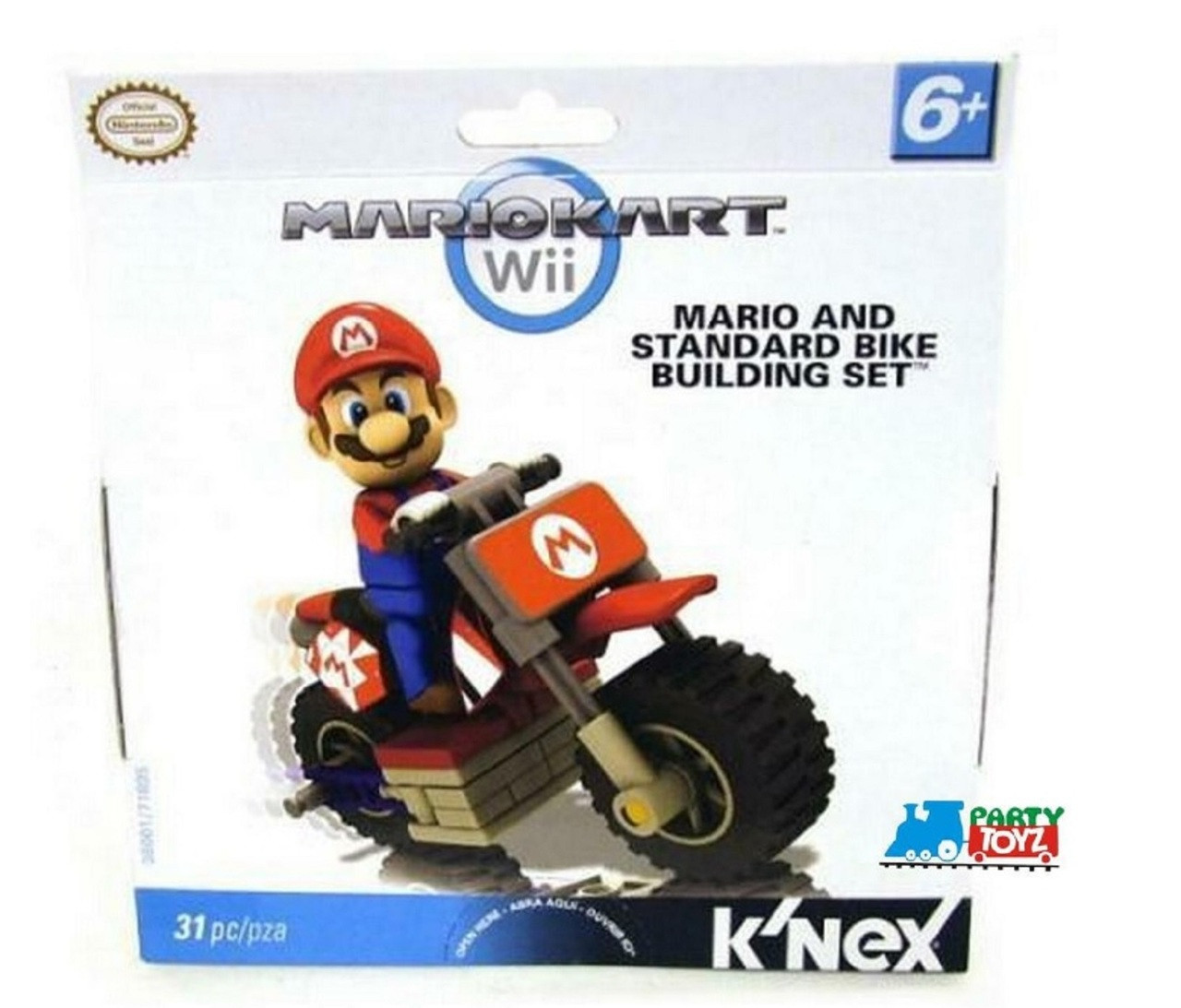 Super Mario Bros LEGO Knex Mariokart Bike Building Set 31pcs