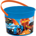 Hot Wheels Plastic Favor Bucket Container ( 1pc ) - Wild Racer