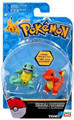 Pokemon 2 Pack Plastic Figures - Squirtle vs Charmander