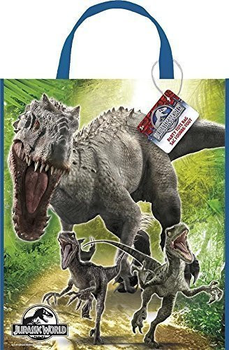 Jurassic World Large Plastic Party Tote Bag