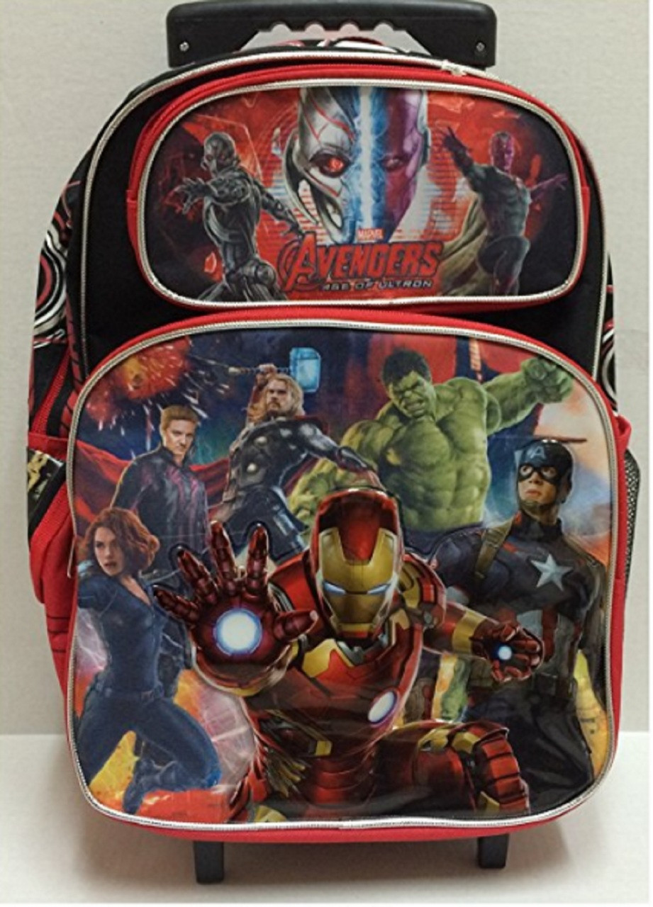 "Avengers Large 16"" Rolling Backpack Book Bag - Ultron"