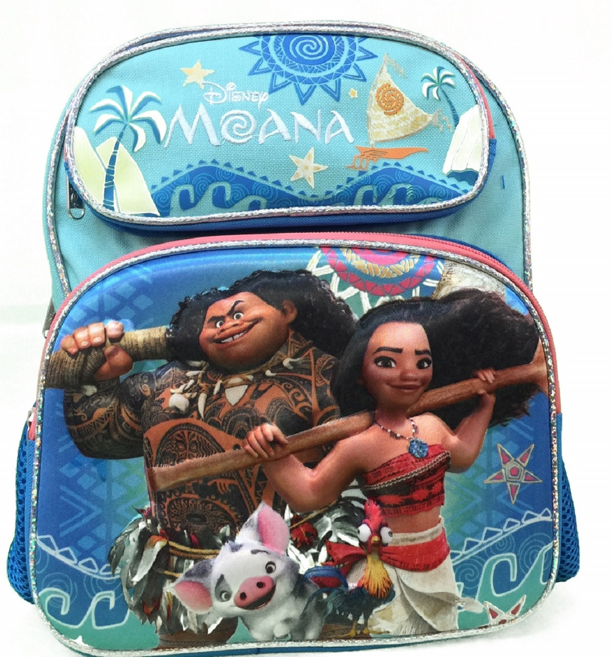 """Disney Moana 12"""" Inch Toddler Backpack With Embossed 3D Picture"""