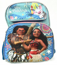 """Disney Moana 12"""" Inch Small Toddler Backpack - Pig On Top"""