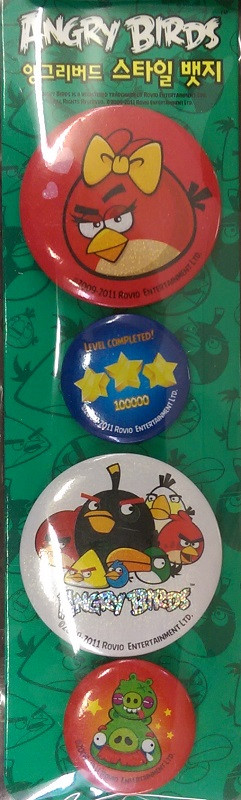 Angry Birds Pins Set 8 - Green