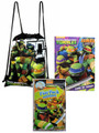 Teenage Mutant Ninja Turtles Black Cloth String Bag/Book/Grab N Go Play Pack
