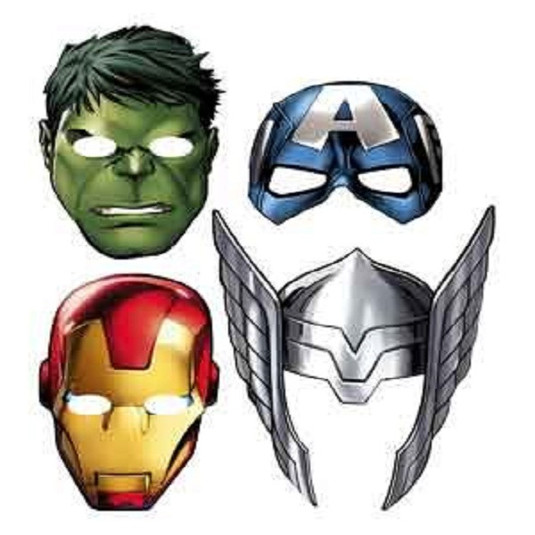 Avengers Assemble Paper Masks (pack of 8)