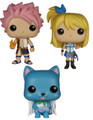3X Funko Pop! Animation Fairy Tail Vinyl Figure (67,68,69)- Natsu , Lucy , Happy