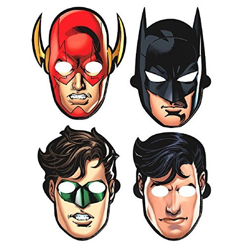 Justice League Paper Masks (pack of 8)