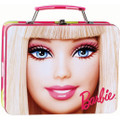 Barbie Square Carry All Tin Stationery Party Treat Bag Lunch Box Lunchbox