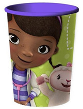 12X Doc McStuffins Plastic 16 Ounce Reusable Keepsake Favor Cup