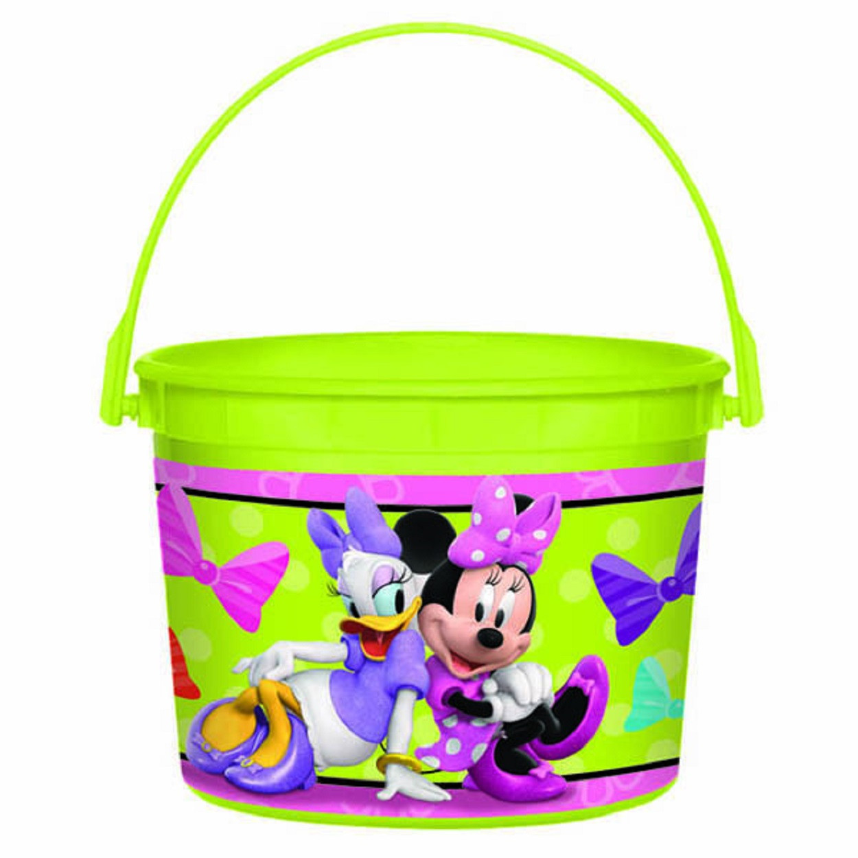 Minnie Mouse Plastic Favor Bucket Container