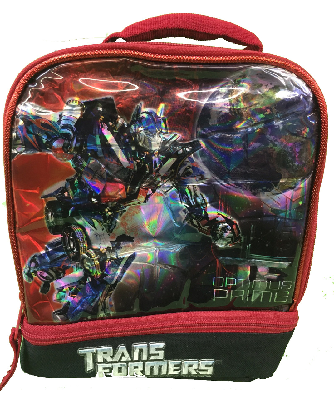 Transformers Dual Compartment Lunch Box Lunch Bag - Optimus Prime