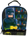 "LEGO Batman ""Justice Wears Many Faces"" Dual Compartment Lunch Bag Lunch Box"