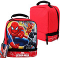 Marvel Ultimate Spiderman Heroes Dual Compartment Lunch Bag Lunch Box
