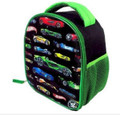 Hot Wheels Lights-Up Vertical Lunch-bag w/Bonus Car Included
