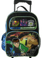 "Ben 10 Alien Force 16"" Inch Large Rolling Backpack"